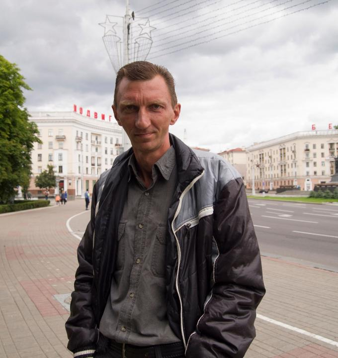 Yury, pictured above, is the first patient has successfully finished their TB treatment at MSF's project in the Republic of Belarus in Eastern Europe.